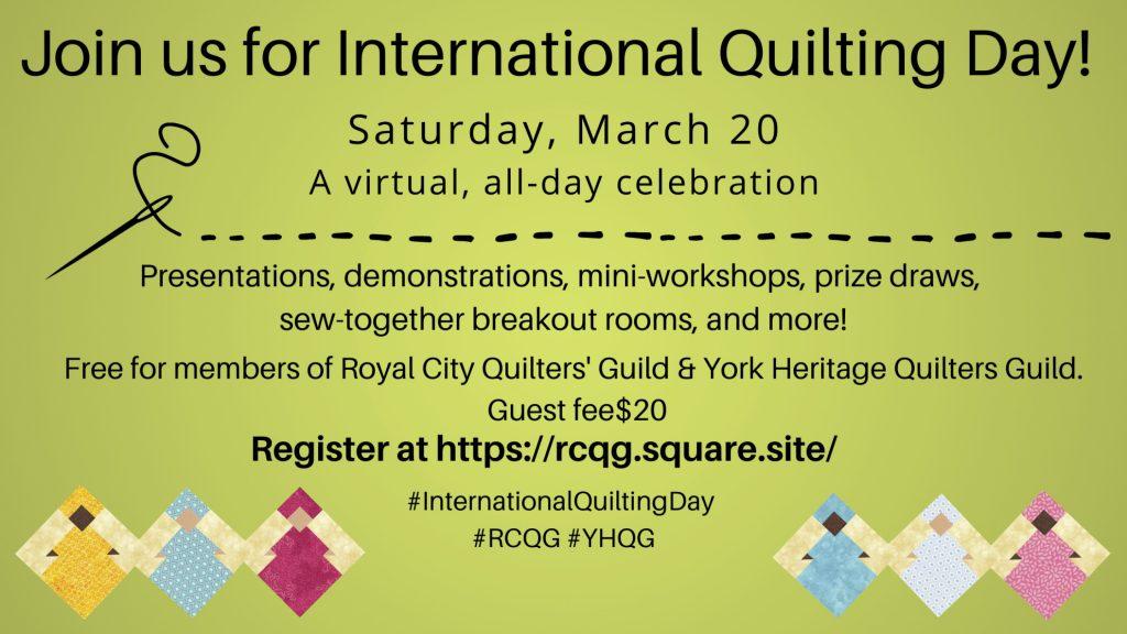International Quilting Day @ Online via Zoom